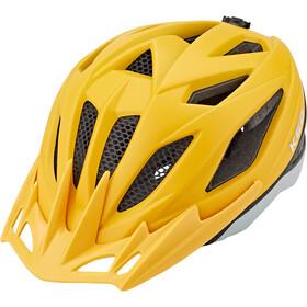 KED Street Jr. Pro Kask rowerowy Dzieci, żółty/szary